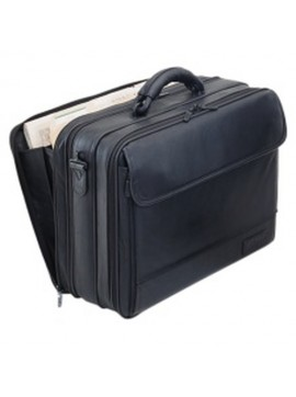 Business Traveler leather black equipment case