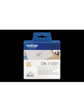 ( DK11201 ) Brother DK-11201 Black on White Label Roll – 29mm x 90mm