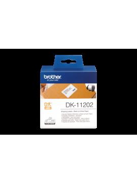 Brother DK-11202 Label Roll – Black on White, 62mm x 100mm (DK-11202)