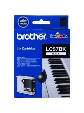 ( LC57-BK ) The Brother LC57BK Black Ink Cartridge – Single Pack. Prints 500 pages.