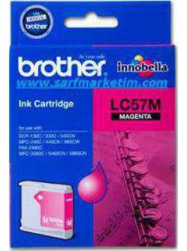 ( LC57M ) The Brother LC57M Magenta Ink Cartridge – Single Pack. Prints 400 pages.