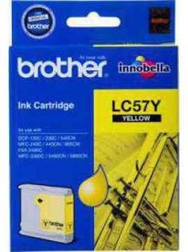 ( LC57-Y ) The Brother LC57Y Yellow Ink Cartridge – Single Pack. Prints 400 pages.