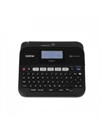 ( PTD450 ) Brother P-touch , PC-Connectable Label Maker, Split-Back Tapes, 7 Font Sizes, One-Touch Keys, Black