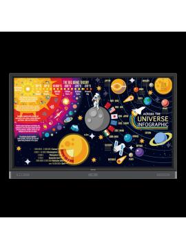 "( RP7501K ) 4K UHD 75"" Education Interactive Flat Panel Display"