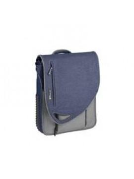 Multipac (2 in 1), nylon, blue denim and grey