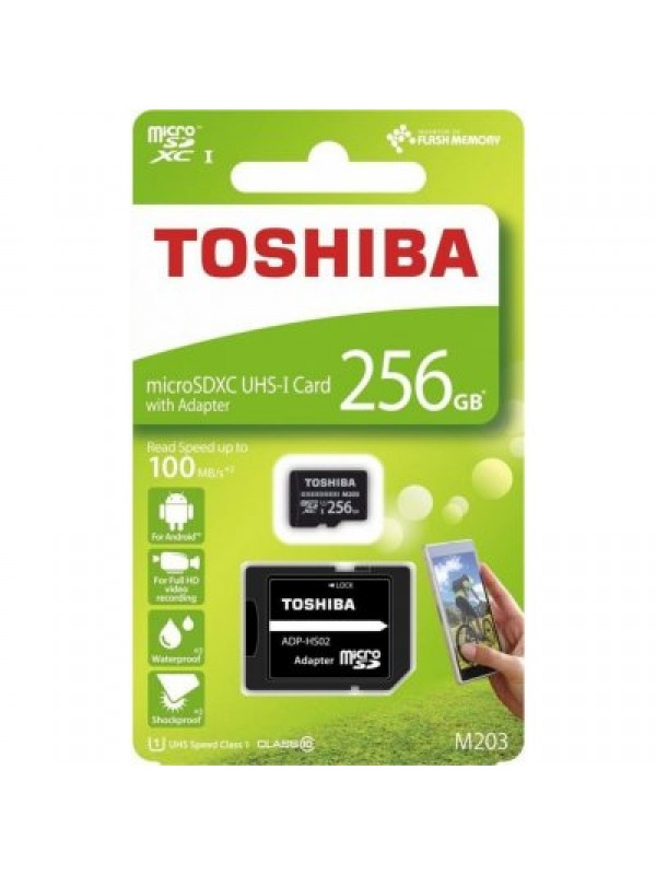 (THN‐M203K2560EA) Toshiba 256GB Micro SD + Adaptor