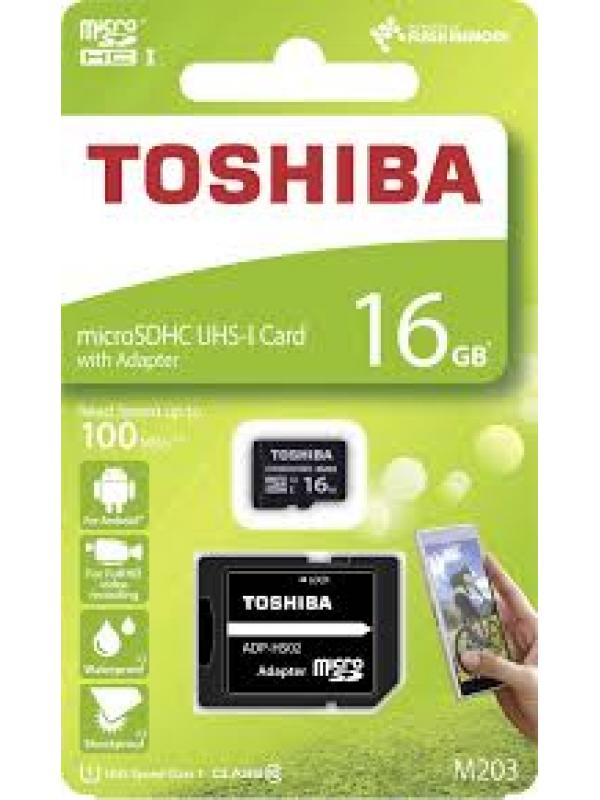 (THN-M203K0160EA) Toshiba 16GB Micro SD + Adaptor