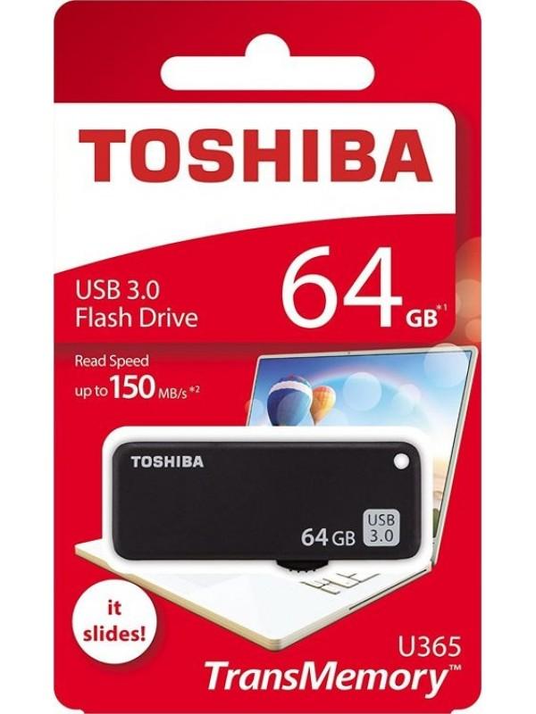 (THN‐U365K0640E4) TOSHIBA USB FLASH DRIVE 64GB - Black