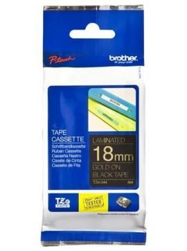 ( TZ344 ) Brother Gold on Black Label Tape 18mm*8m