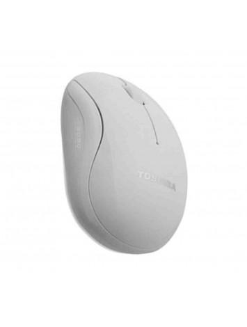 Toshiba U20 Blue LED USB Optical Mouse - White