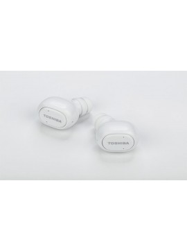 Toshiba RZE-BT800E(W) True-Wireless Stereo Sweat-Resistant BT Earphones with Built-in Dual Microphones, White