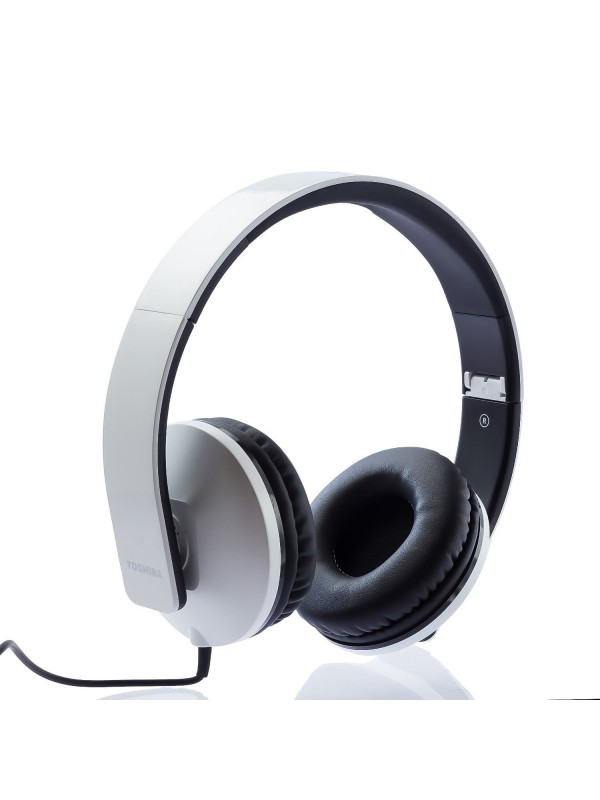 ( RZE-D200H(W) ) Toshiba Foldable Wired Headset WHITE
