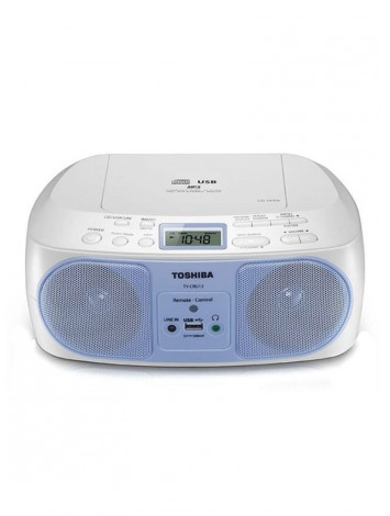 ( TY-CRU12(L) )Toshiba Portable CD/Radio Player with Remote 13W - Blue