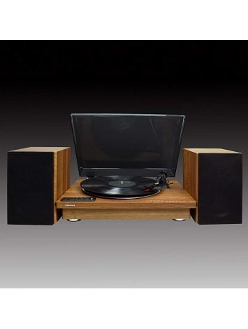 ( TY-LP200 ) Toshiba Vinyl Record Player Turntable - Brown