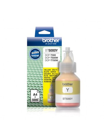 ( BT5000Y ) BROTHER Ink for Inkjet Printing 5000 Page Yield - Yellow