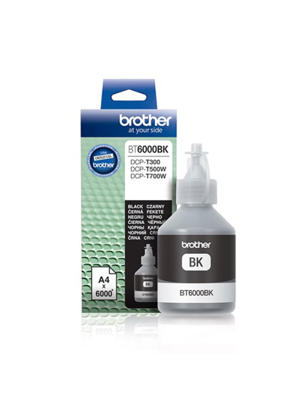 ( BT6000BK ) BROTHER Ink for Inkjet Printing 6000 Page Yield - Black