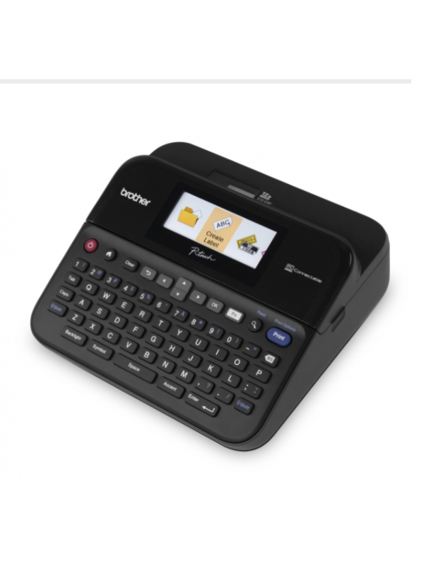 ( PT-D600 ) Label printer for work with full-colour LCD screen and PC connectable